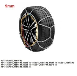 "Catene da neve per auto ""grip tech"" 9 mm. gr. 3"