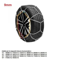 "Catene da neve per auto ""grip tech"" 9 mm. gr. 5"