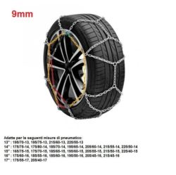 "Catene da neve per auto ""grip tech"" 9 mm. gr. 7"