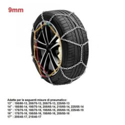 "Catene da neve per auto ""grip tech"" 9 mm. gr. 8"