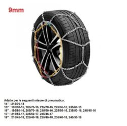 "Catene da neve per auto ""grip tech"" 9 mm. gr. 10"