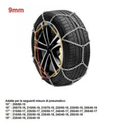 "Catene da neve per auto ""grip tech"" 9 mm. gr. 11"