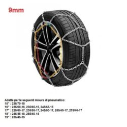 "Catene da neve per auto ""grip tech"" 9 mm. gr. 12"