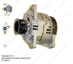 ALTERNATORE 12V - 90A AUTOCARRO IVECO DAILY